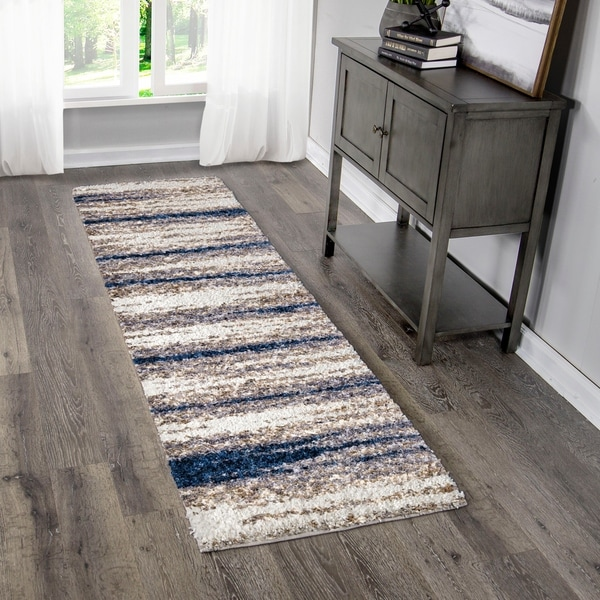 """Palmetto Living Cotton Tail Buttery-Soft Stone Ombre Runner - 2'3"""" x 8'"""