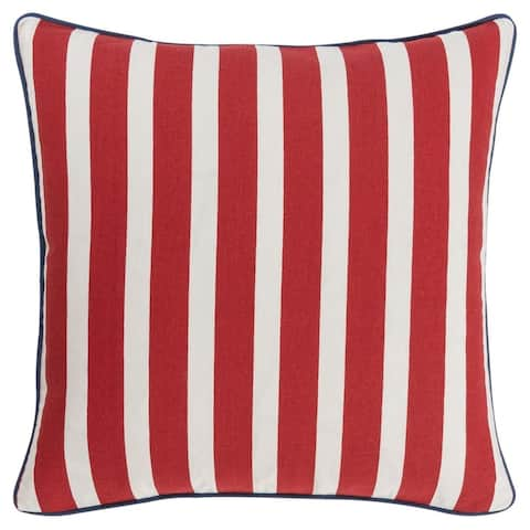 "Rizzy Home 18""X18"" Navy Stars Polyester Filled Pillow"