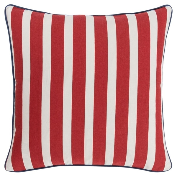 """Rizzy Home 18""""X18"""" Navy Stars Polyester Filled Pillow. Opens flyout."""