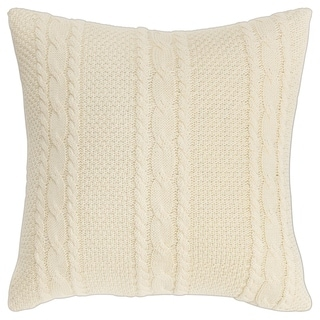 "Rizzy Home Textured Stripes 18""X18"" Polyester Filled Pillow"