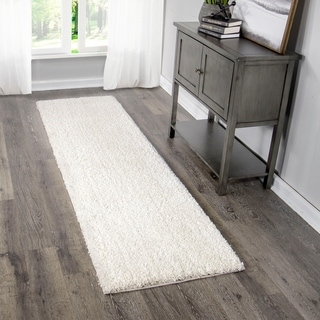 """Palmetto Living Cotton Tail Buttery-Soft Solid White Runner - 2'3"""" x 8'"""