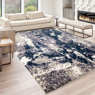 Palmetto Living Jennifer Adams Cotton Tail Expose Blue Area Rug - 9' x 13'