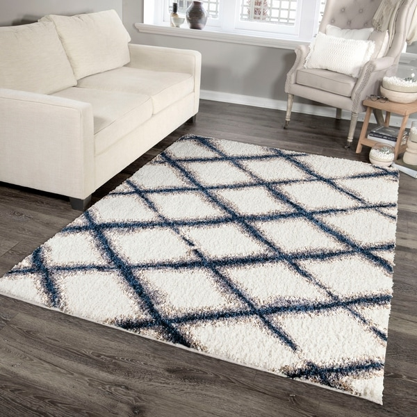"Palmetto Living Cotton Tail Buttery-Soft Line Trellis Area Rug - 5'3"" x 7'6"""