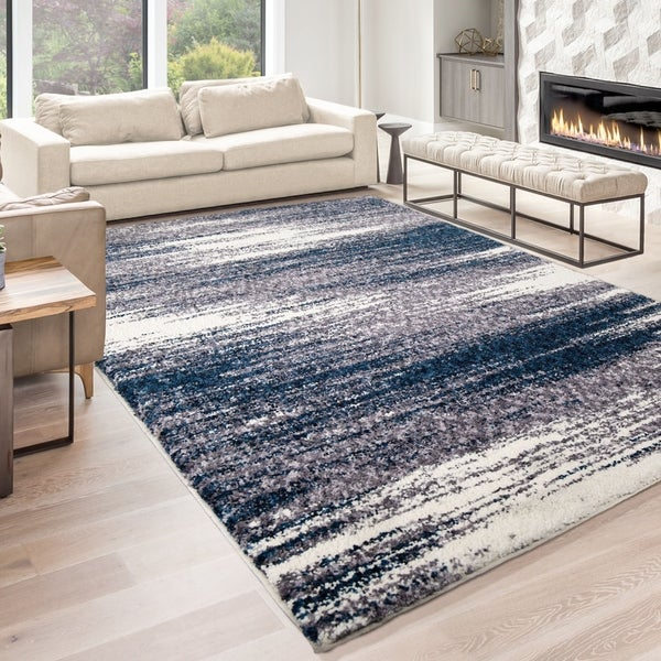 "Palmetto Living Jennifer Adams Cotton Tail Madrid Denim Area Rug - 5'3"" x 7'6"""