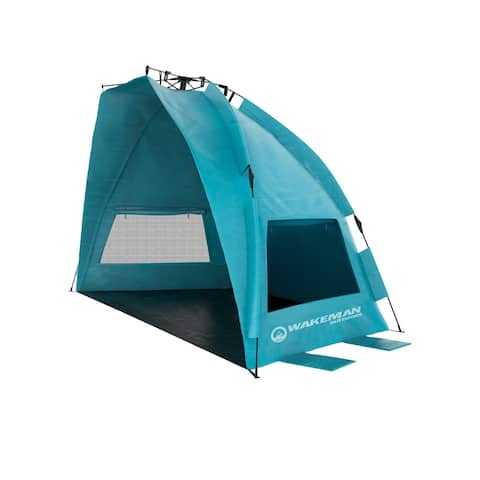 Water & Wind Resistant Pop Up Beach Tent by Wakeman Outdoors - 90 x 50 x 52
