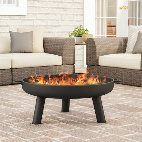 """27.5"""" Outdoor Fire Pit by Pure Garden - 27.55 x 27.55 x 13.5"""