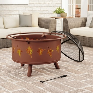 "Link to 32"" Wood Burning Outdoor Fire Pit by Pure Garden - 32 x 32 x 25 Similar Items in Fire Pits & Chimineas"