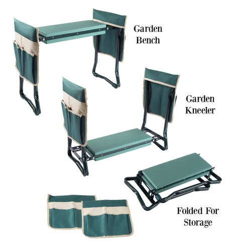 Foldable Garden Kneeling Bench by Pure Garden - 23.5 x 10.75 x 19.5