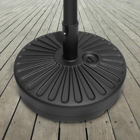 Weighted Round Patio Umbrella Base by Pure Garden - 20 x 20 x 11