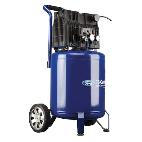 Ford Silent Series 15 Gallon Vertical Tank Air Compressor
