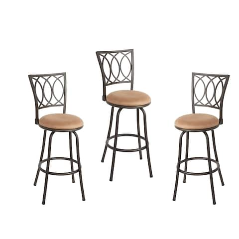 Copper Grove Laren Swiveling Adjustable-height Bar Stools (Set of 3)