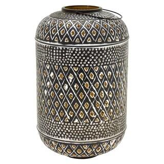 Three Hands 20 in. Brown Metal Decorative Lantern