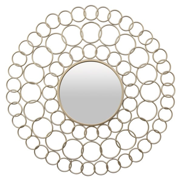 Wall Mirror - Champagne in Champagne Metal 36in L x 1in W x 36in H