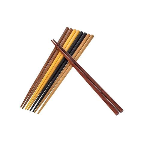 Heim Concept 8 Pair Natural Hardwood Japanese Reusable Wood Chopsticks