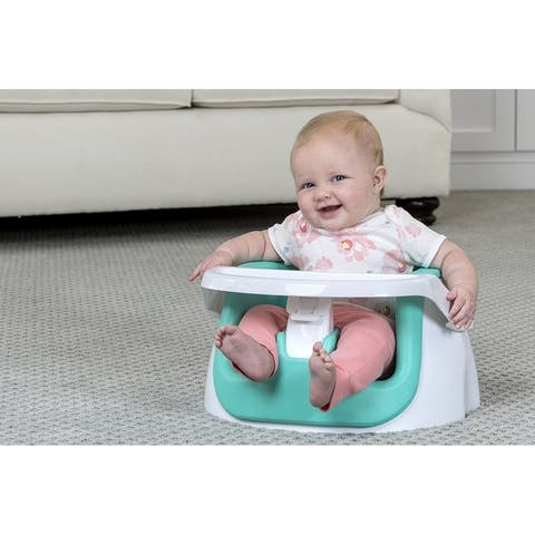 Regalo 2-in-1 Floor Seat and Booster Seat, Aqua