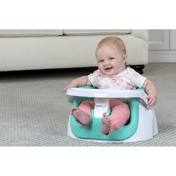 Shop Regalo 2 In 1 Floor Seat And Booster Seat Aqua On Sale