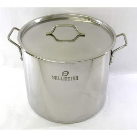 40 Quart Stainless Steel Stock Soup Tamale Pot Steamer Rack