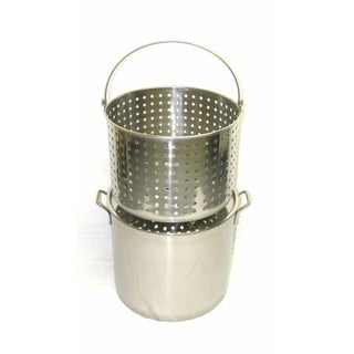Link to 42Qt Stainless Steel Stock Pot with Steamer Basket Similar Items in Cookware