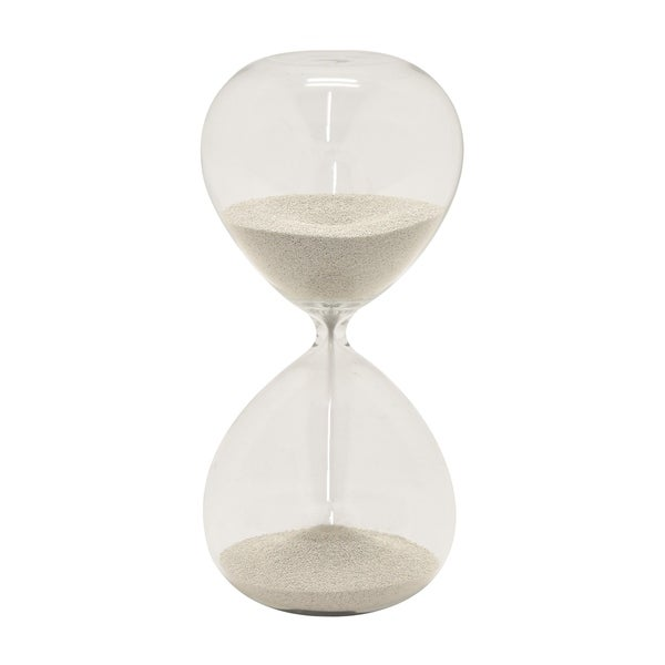 Sand Timer Electroplated 5min in Silver Glass 6in L x 6in W x 12in H