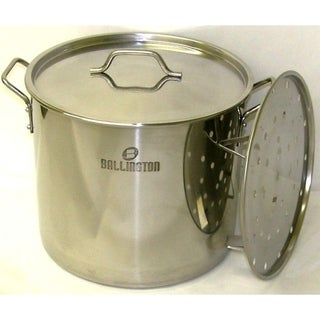 Link to 60QT Heavy Duty Stainless Steel Stock Pot with Steamer Rack Similar Items in Cookware