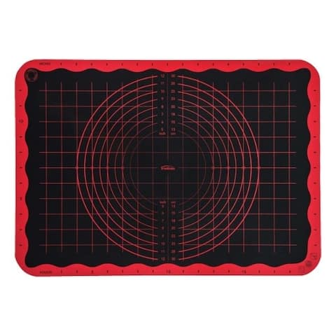 Trudeau 13 in. W x 19 in. L Pastry Mat Black/Red