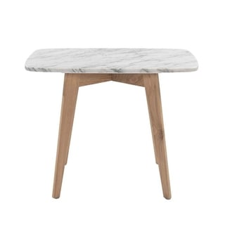 Carson Carrington Tangalund Rectangular Italian Carrara Marble Table