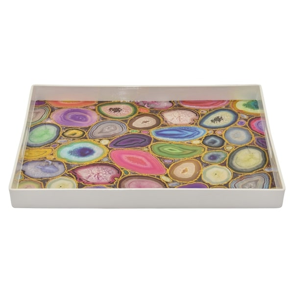 Tray in Multi-Colored Resin /Magnesium 19in L x 14in W x 2inH