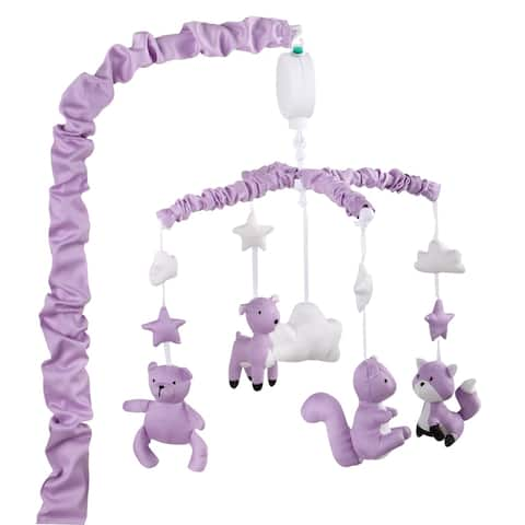 The Peanutshell Woodland Musical Mobile in Purple