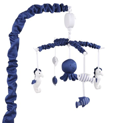 The Peanutshell Nautical Musical Mobile in Navy
