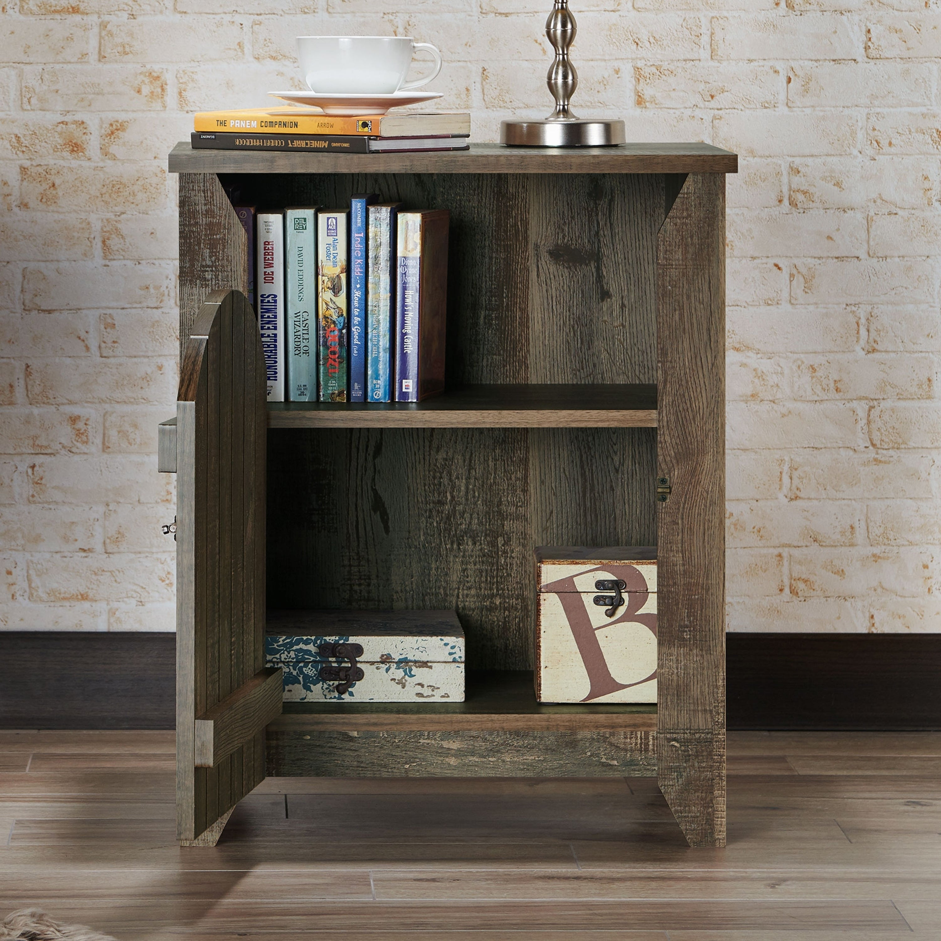 Carbon Loft Harland Rustic Oak 2 Shelf End Table