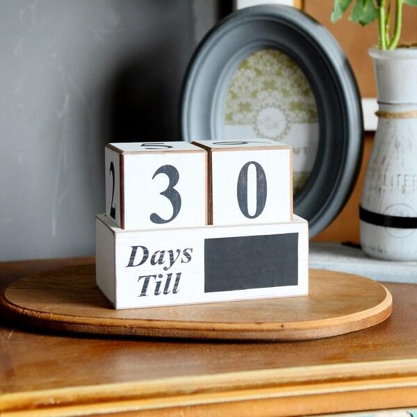 Vintage Wooden Advent Calendar Blocks
