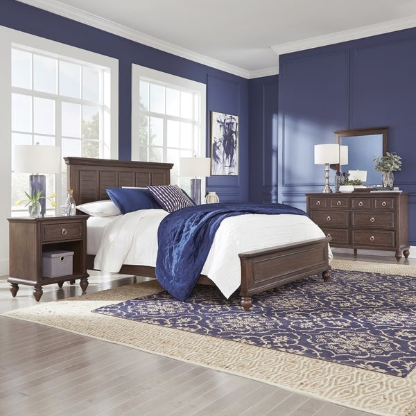 Southport Queen Bed; Night stand; Dresser & Mirror