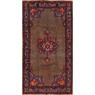 """Medallion Hand Knotted Bordered Koliaie Persian Oriental Area Rug - 9'1"""" X 4'11"""""""