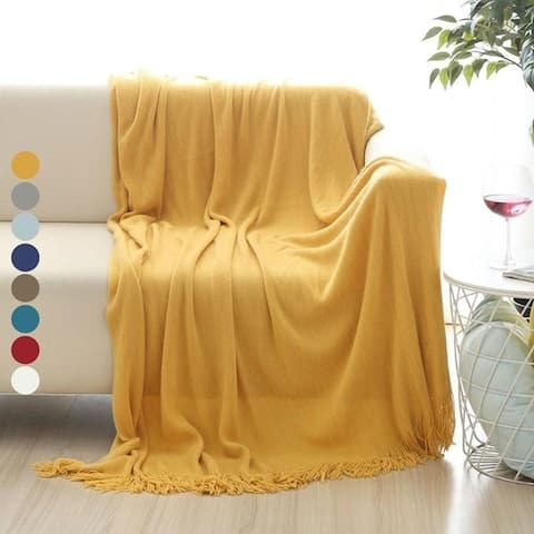 Soft Throw Blanket Warm & Cozy for Couch Sofa Bed Beach Travel