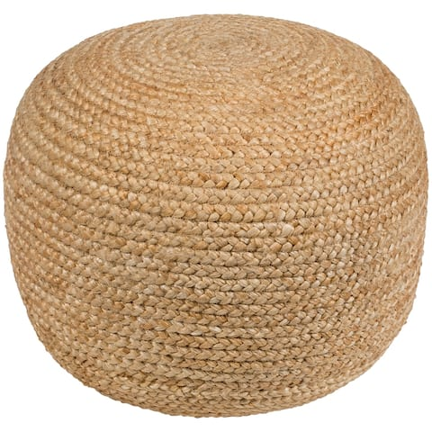 The Gray Barn Hidden Banks Farmhouse Jute 19-inch Cylinder Pouf