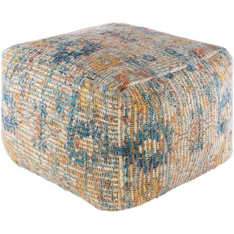 Leila Global Jute 20-inch Rectangle Pouf