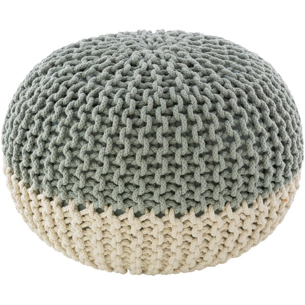 Dulce Modern Knitted Two-toned 20-inch Round Pouf