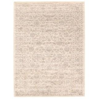 Handmade Olivia Ivory Rug - ECARPETGALLERY - 6'7 x 9'6