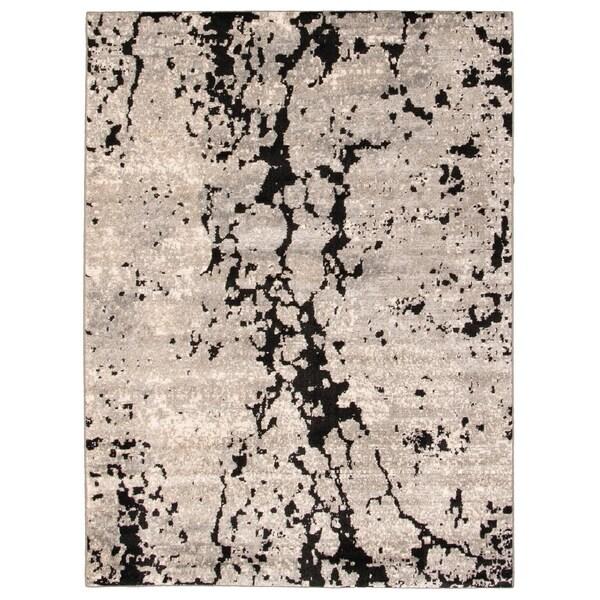 Handmade Stella Black Rug - ECARPETGALLERY - 6'7 x 9'6