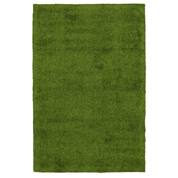 Handmade Art Grass Green Rug - ECARPETGALLERY - 4'0 x 6'0