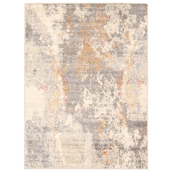 Handmade Azure Grey Rug - ECARPETGALLERY - 6'7 x 9'6