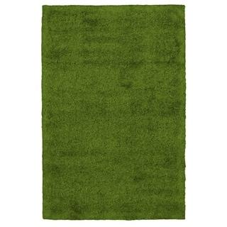 Handmade Art Grass Green  Rug - ECARPETGALLERY - 5'0 x 7'0