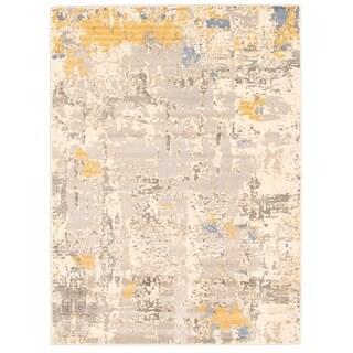 Handmade Azure Yellow Rug - ECARPETGALLERY - 6'7 x 9'6