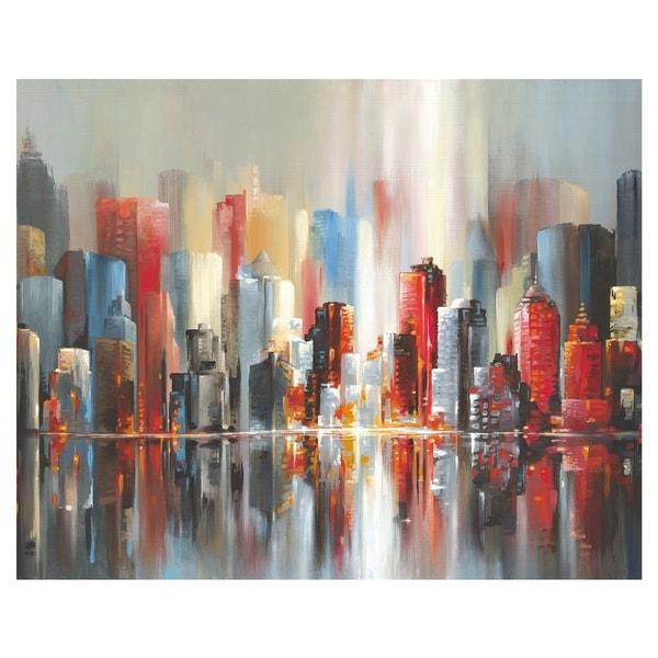 Scarlet City by Willowbrook Fine Art Canvas Art Print