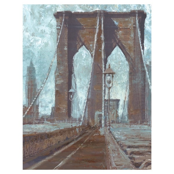 Brooklyn Bridge by Willowbrook Fine Art Canvas Art Print