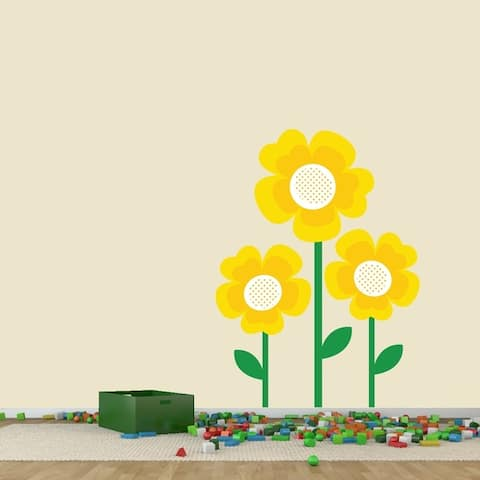 Yellow Flowers Printed Wall Decal