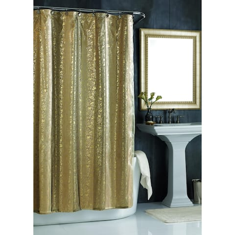 "City Scene Sheer Bliss Gold 72"" X 72"" Shower Curtain"