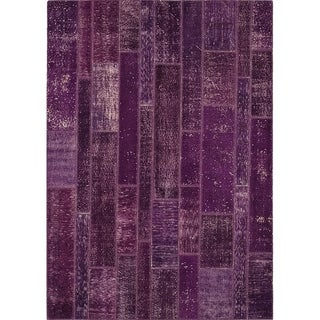 "Antiqued Slatted Patchwork - 5'7"" x 7'10"""