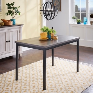 Brent Black Metal Dining Table by iNSPIRE Q