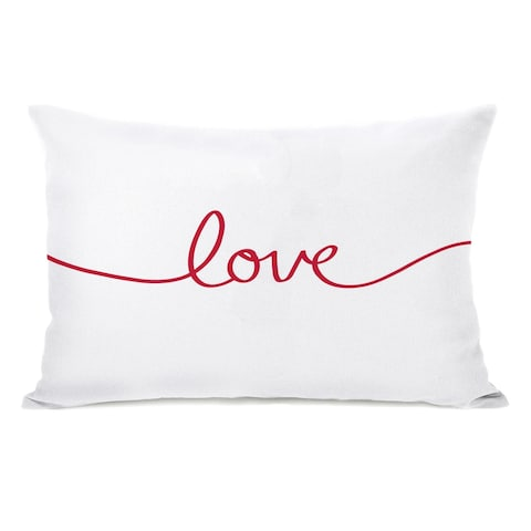Love Script - Red 14x20 Pillow by OBC